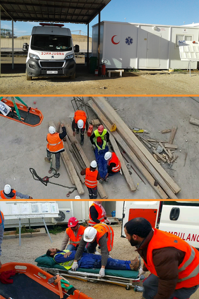 Médicalisation industrielle - SAKR Assistance - Service Ambulance -